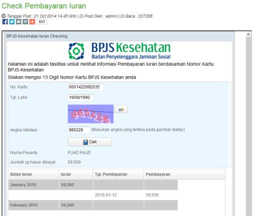 Cek tunggakan bpjs secara online mudah & cepat